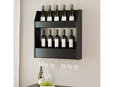 Kilmer Black Wall Wine Rack, , large