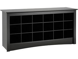 Seymour Black Shoe Bench, , large