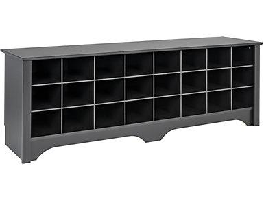 Tollcross Black Shoe Bench, , large