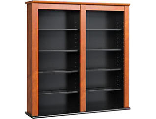 Bach Cherry Media Wall Storage, , large