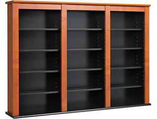 Cook Cherry Media Wall Storage, , large