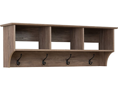 """Apex 48"""" Drifted Gray Entry Shelf, , large"""