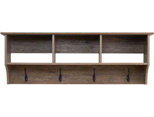 "Apex 48"" Drifted Gray Entry Shelf, Black, large"