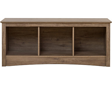 Lennox Drifted Gray Entry Bench, Grey, large