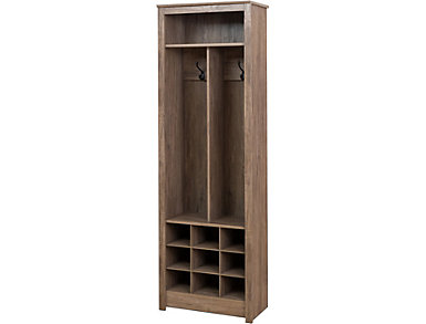Griffin Drifted Gray Entry Storage, Grey, large