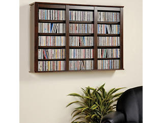 Cook Espresso Media Wall Storage, Brown, large