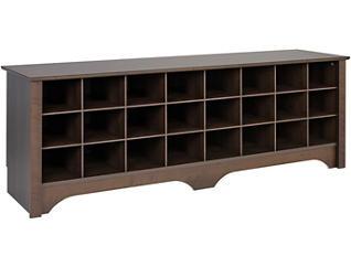 Tollcross Brown Shoe Bench, , large