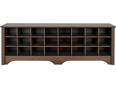 Tollcross Espresso Shoe Bench, Brown, large