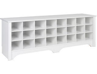 Tollcross White Shoe Bench, , large