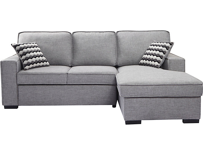 venetian sleeper sectional with storage chaise grey outlet at art van. Black Bedroom Furniture Sets. Home Design Ideas