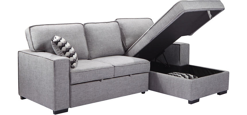Venetian Sectional with Sleeper & Storage Chaise