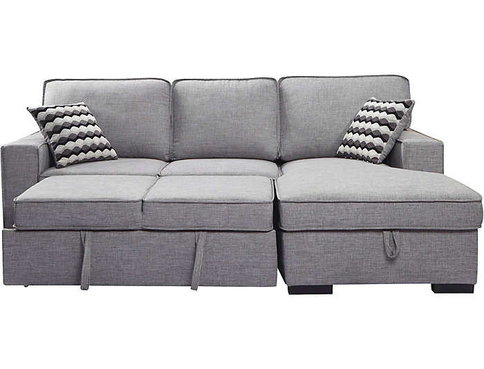 Venetian Sectional With Sleeper Storage Chaise