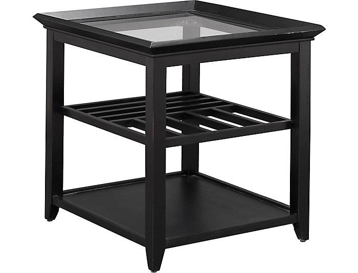 Sandpiper Rectangular End Table, Black, , large