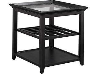 Sandpiper Rectangular End Table, Black, , large