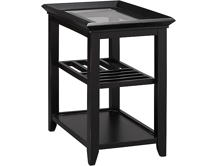 Sandpiper Chairside Table, Black, , large