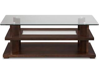 Delfino Rectangular Coffee Table, Brown, , large