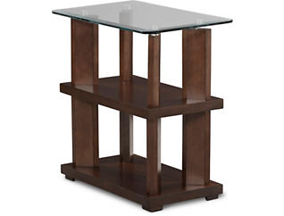 Delfino Chairside Table, Brown, , large