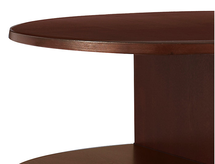 Metropolitan Oval End Table, Brown, , large