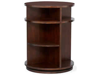 Metropolitan Swivel Table, Brown, , large