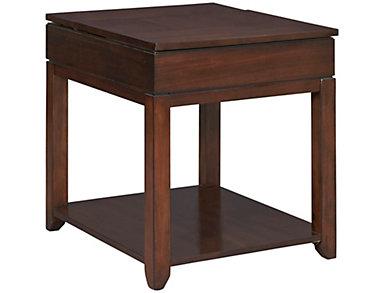 Daytona Rectangular End Table, Brown, , large