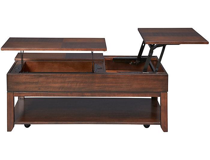 Lift Top Coffee Table.Daytona Brown Lift Top Coffee Table