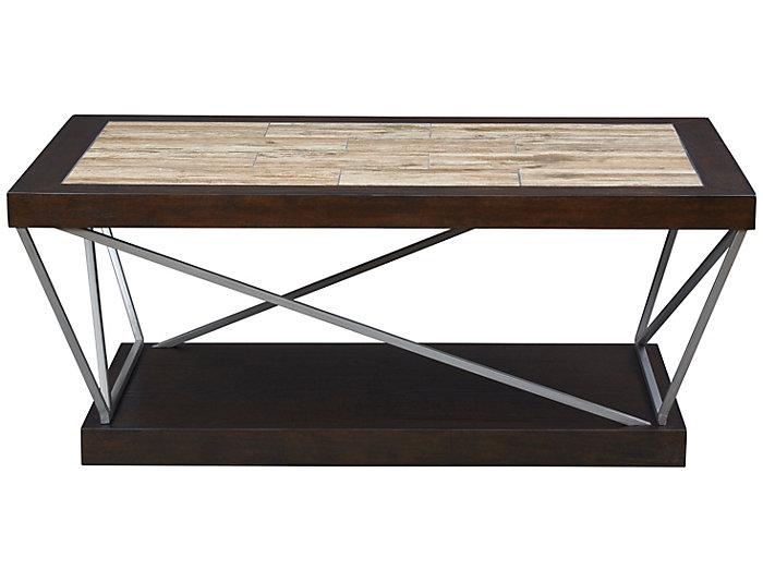 CasteCoffee Table, Brown, , large
