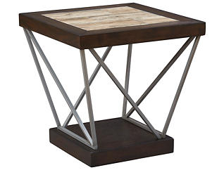 East Bay Rectangular End Table, Brown, , large