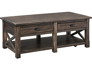 Crossroads Griffin Gray Rectangle Coffee Table, , large