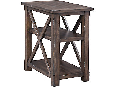 Crossroads Griffin Gray Chairside Table, , large