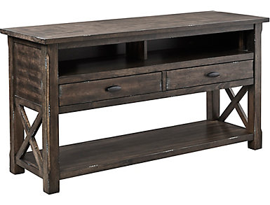 Crossroads Griffin Gray Sofa Table, , large