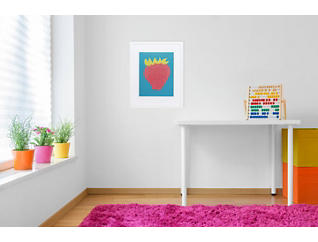 Strawberry Snack Framed Wall Art, , large