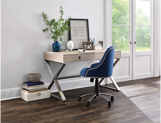 Skylar Peacock Blue Desk Chair, , large