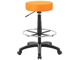 Dot Orange Drafting Stool, , large