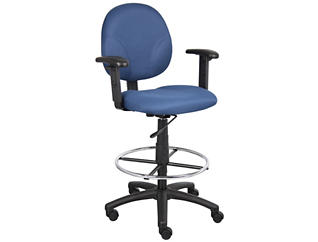 Jude Blue Arm Drafting Stool, , large