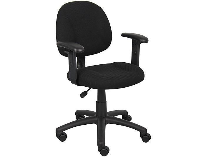 Jude Black Arm Desk Chair, , large