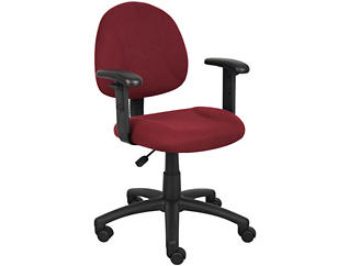 Jude Red Arm Desk Chair, , large