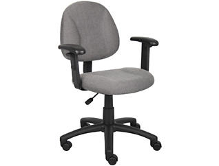 Jude Grey Arm Desk Chair, , large