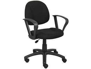 Jude Black Loop Arm Desk Chair, , large