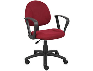 Jude Red Loop Arm Desk Chair, , large