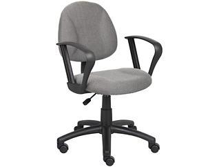Jude Grey Loop Arm Desk Chair, , large