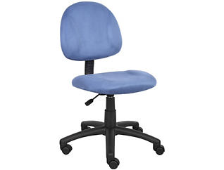 Rene Blue Armless Desk Chair, , large