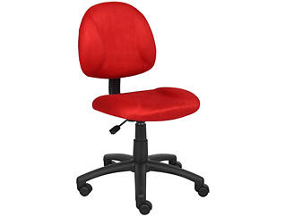 Rene Red Armless Desk Chair, , large