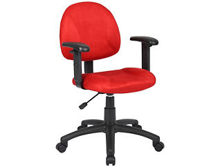 Rene Red Arm Desk Chair, , large