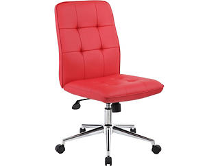 Boston Red Desk Chair, , large