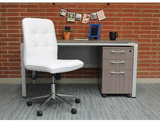 Boston White Desk Chair, White, large