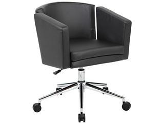 Metro Club Black Desk Chair, , large