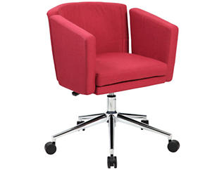 Metro Club Red Desk Chair, , large