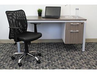 Cody II Black Desk Arm Chair, , large