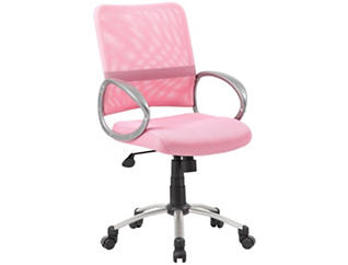 Jesse Pink Desk Chair, , large