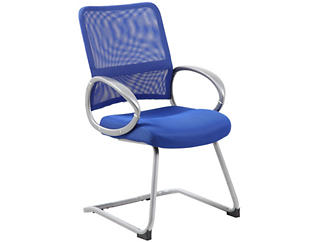 Jesse Blue Stationary Chair, , large